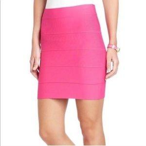 Simone Bandage Skirt In Neon Pink